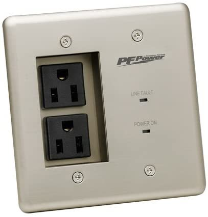 MIW-POWER-PRO-PFP Power Outlet Faceplate - Silver