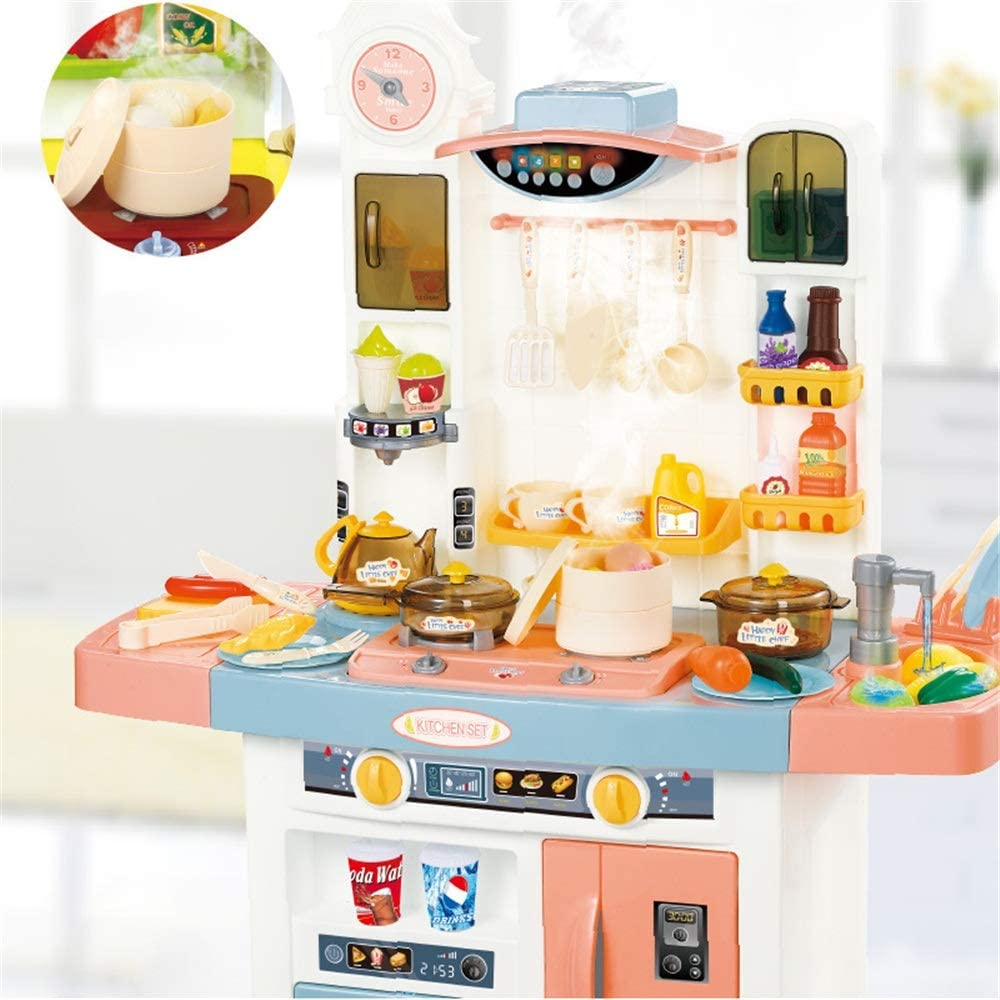 Kitchen Playset Delights Play Kids Kitchen Toy With Realistic Lights And Sounds Kids Play Kitchen Color Size 72x51x100cm Bioziny