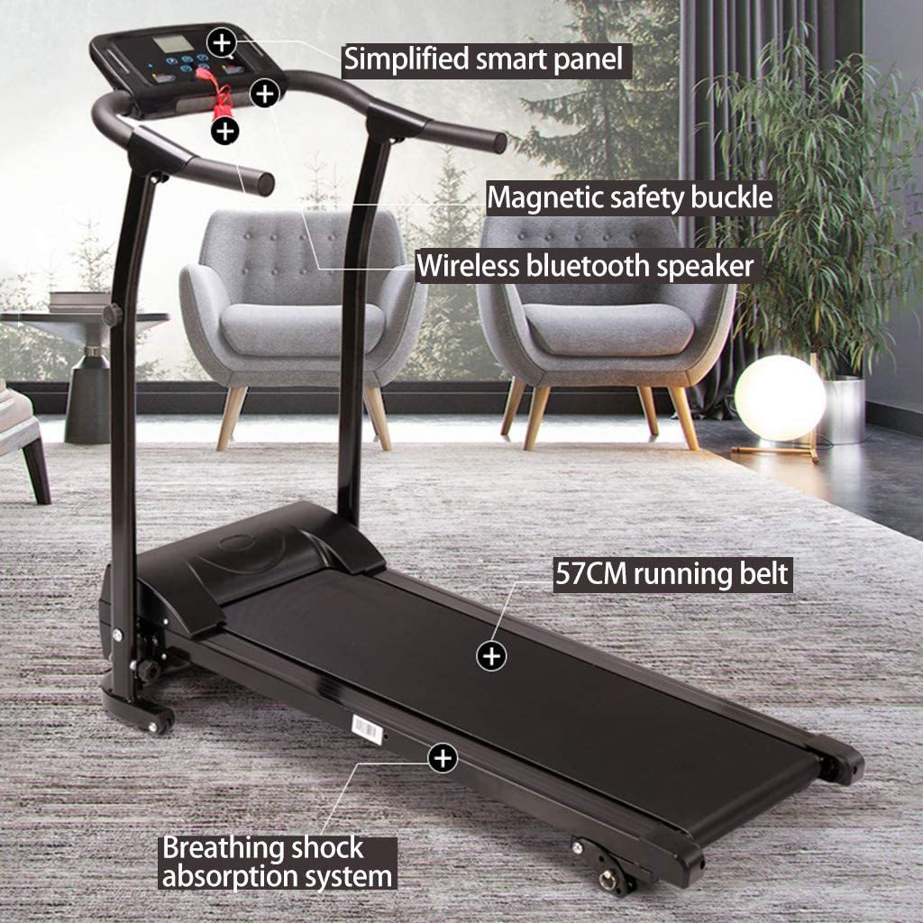Electric Folding Treadmill with Incline LCD Display, Fitness Motorized Running Jogging Machine 265 LBS Load-Bearing,Perfect for Home Exercise,Fast and Easy Assembly