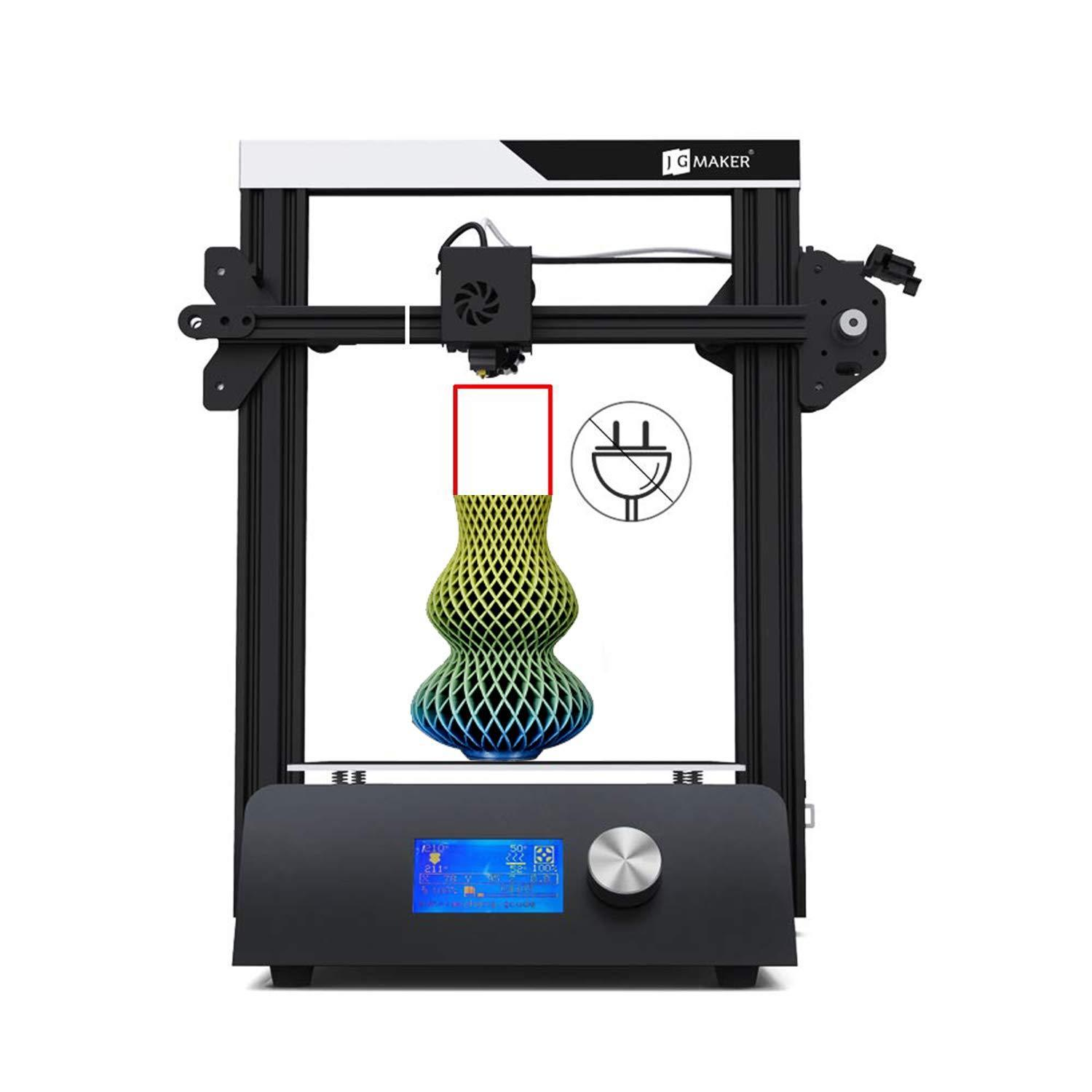 Magic 3D Printer with Automatic Memory,Aluminum DIY Kit Resume Print Work with PLA Filament Printing Size 220x220x250mm