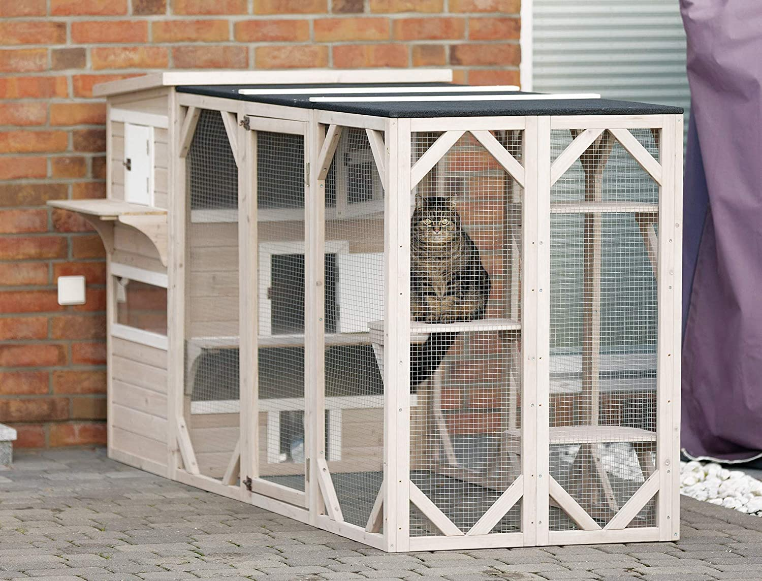 Trixie 3 Story Outdoor Cat House Gray 45 In