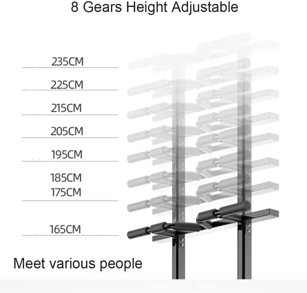 Bar Station Pull Up Bars Power Tower Multifunction Parallel Bars Dip Free Stand Height Adjustment for Home Gym Strength Training Equipment (Color : D)