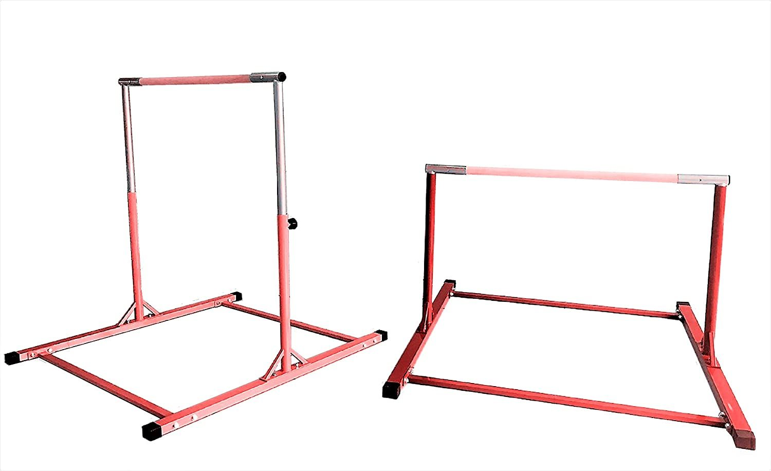 5 Ft Athletic Horizontal Bar Teens Adjustable Gymnastics Training Kip Bars RED