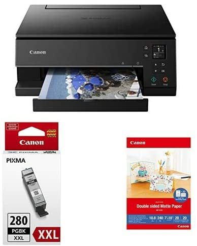PIXMA TS6320 Wireless All-In-One Photo Printer with Copier, Scanner and Mobile Printing, Black, Amazon Dash Replenishment