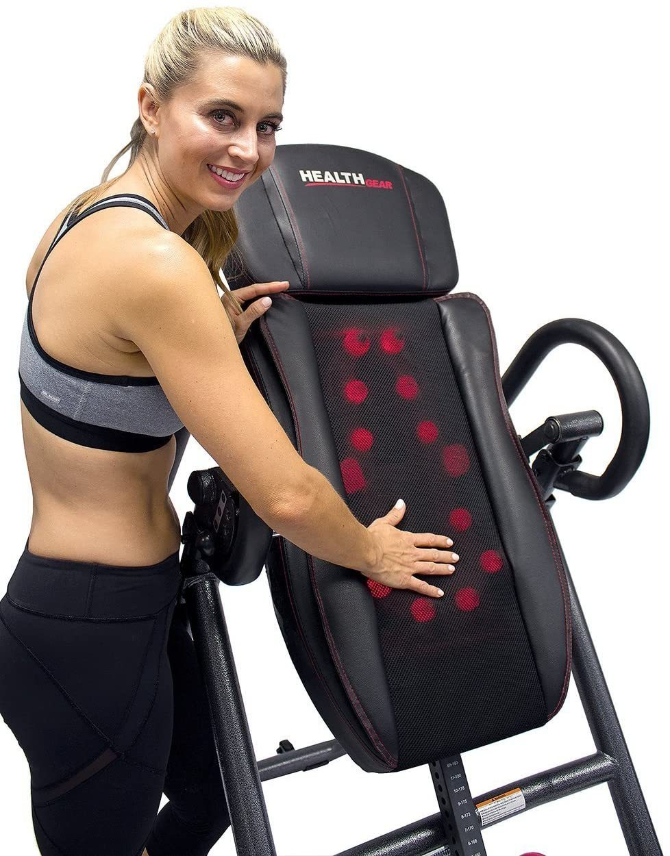 ITM7.0-S Patented Deep Tissue Shiatsu Heat & Massage Inversion Table - Heavy Duty up to 300 lbs.