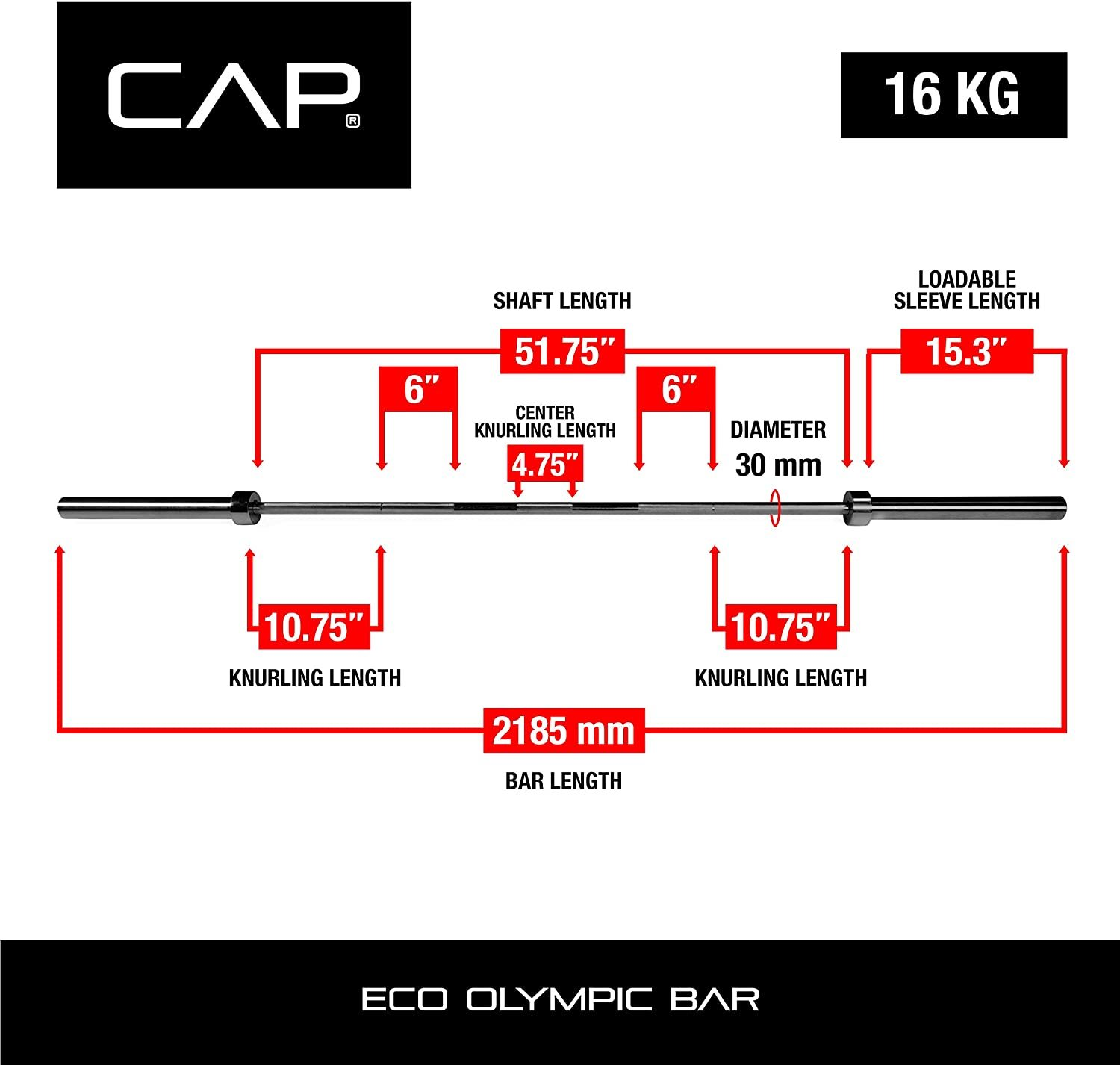 Barbell Classic 7-Foot Olympic Bar
