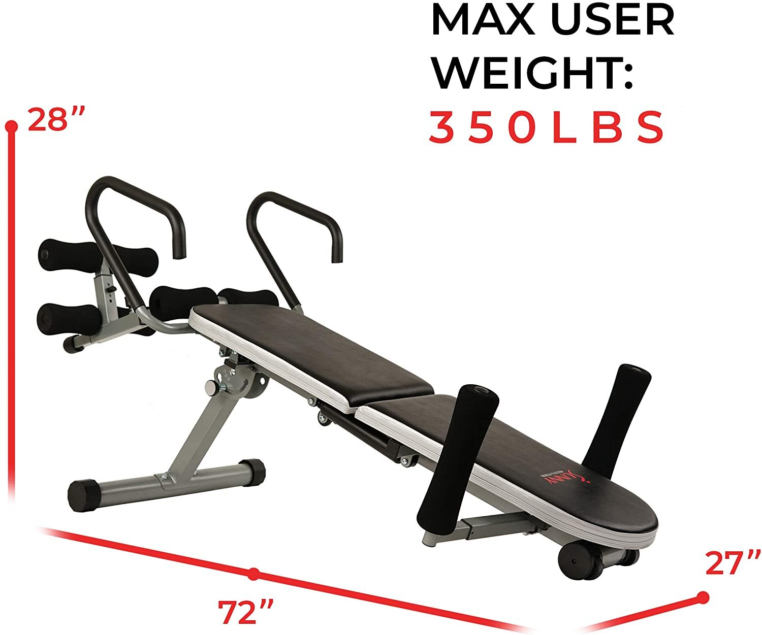 Invert Extend N Go Back Stretcher Bench for Back Pain Relief, Decompression Therapy