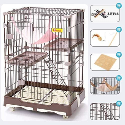 Aisj Cat Cage Extra Large Villa Indoor Household House Double Three Layer Pet Small Fence With