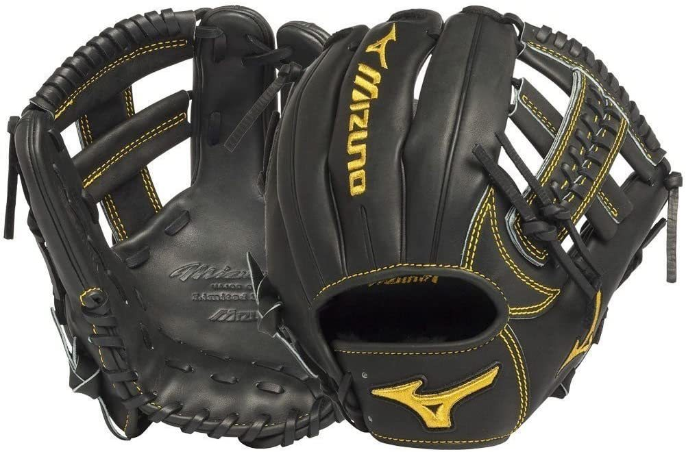 GMP600BK Pro Limited Edition Right Handed Throw Baseball Fielders Mitt, Black, 11.50-Inch