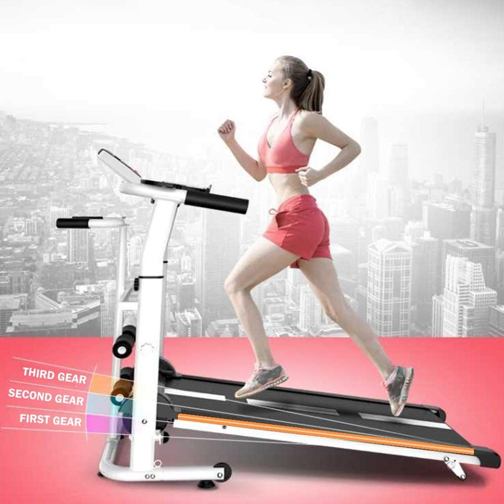 Treadmill Folding Shock Running Supine T-wisting Draw Rope 4-in-1 Mechanical Treadmills Home Gym Workout Fitness Electric Running Machine