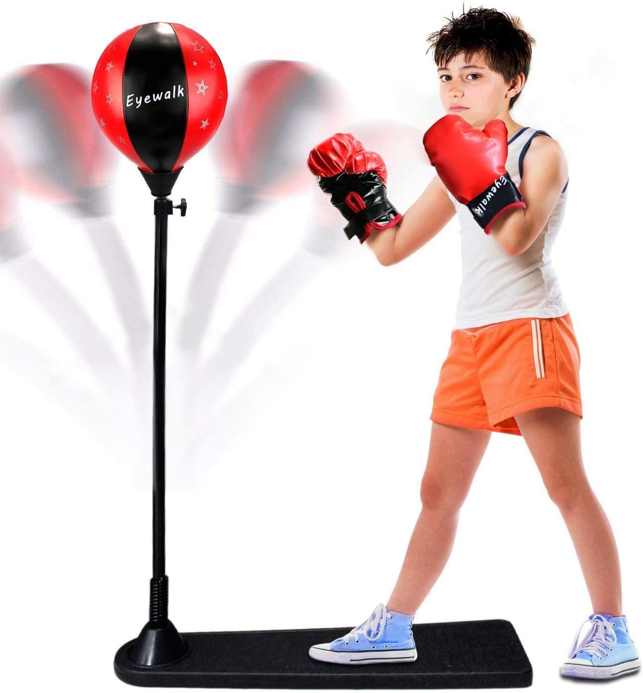 Punching Boxing Kit Training Bag Set with 1 Pair Gloves for Anti-Stress Fitness for Teenagers Adult Men Kids