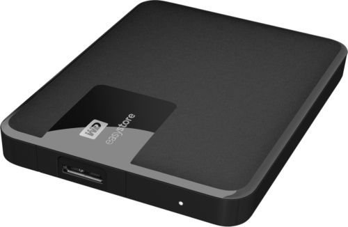 WD - Easystore 1TB External USB 3.0 Portable Hard Drive - Black