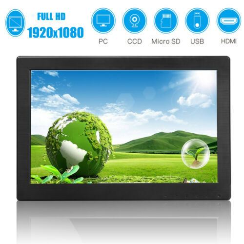 "12"" Touch button 1920P IPS Security Monitor Display HDMI/USB PC Monitor Speaker"